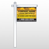 "Yellow Land & Housing 861 18""H x 24""W Swing Arm Sign"