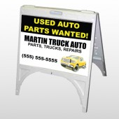 Black & Yellow Truck 326 A Frame Sign
