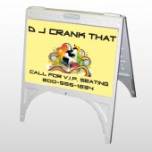 DJ Crank Night 369 A Frame Sign