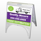 Moving Truck 293 A Frame Sign