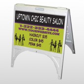 Uptown Salon 642 A Frame Sign