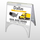 Yellow Truck 296 A Frame Sign