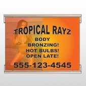 Tropical Rayz Tan 490 Track Banner