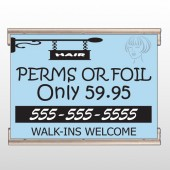 Woman Hair Sign 289 Track Banner