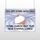 Fishing Bobber 410 Window Sign