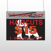 Haircut Scissors 644 Window Sign