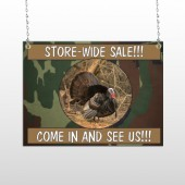 Hunt Turkey 409 Window Sign