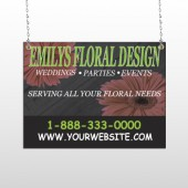 Black And Floral 496 Window Sign