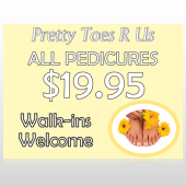 Yellow Pedicure 294 Custom Decal