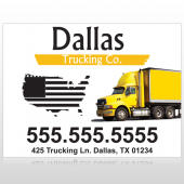 Yellow Truck 296 Custom Sign