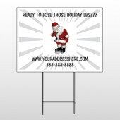 Health Santa 402 Wire Frame Sign