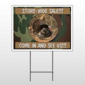 Hunt Turkey 409 Wire Frame Sign