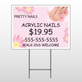 Nail Salon 291 Wire Frame Sign