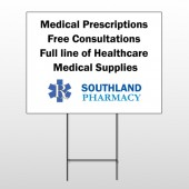 Pharmacy 335 Wind Frame Sign