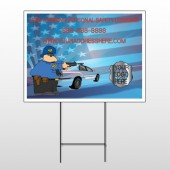 Police Thanks 429 Wire Frame Sign