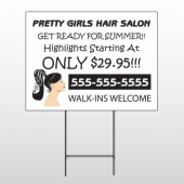 Pretty Girl Hair 290 Wire Frame Sign