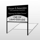 Black Planning 218 H Frame Sign