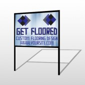 Blue Checker 249 H-Frame Sign