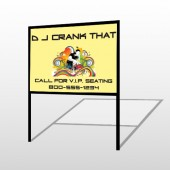 DJ Crank Night 369 H-Frame Sign