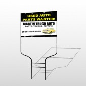 Black & Yellow Truck 326 Round Rod Sign