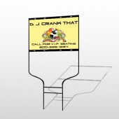 DJ Crank Night 369 Round Rod Sign