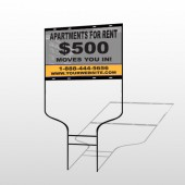Gray Buildings 866 Round Rod Sign