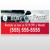 Car Rental 112 Custom Sign