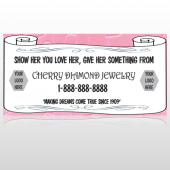 Scroll Pink Heart 397 Custom Decal