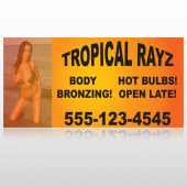 Tropical Rayz Tan 490 Site Sign