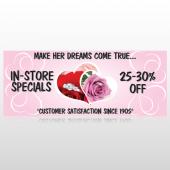 Pink Rose Hide Ring 400 Custom Banner