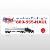Tanker Truck 315 Custom Banner