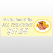 Yellow Pedicure 294 Custom Banner