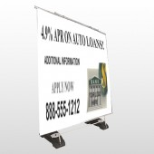 Auto Loan 173 Exterior Pocket Banner Stand