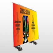 Dance Disco 518 Exterior Pocket Banner Stand