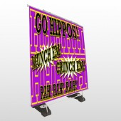Hippos 45 Exterior Pocket Banner Stand