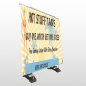 Hot Beach Tan 299 Exterior Pocket Banner Stand