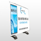 North Compass 148 Exterior Pocket Banner Stand
