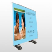 Paradise Pool 529 Exterior Pocket Banner Stand