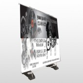 Silhouette Band 366 Exterior Pocket Banner Stand