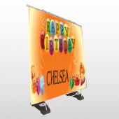 Birthday Balloons 185 Exterior Pocket Banner Stand