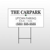 Car Park 122 Wire Frame Sign