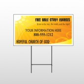Sun Rays 165 Wire Frame Sign