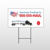 Tanker Truck 315 Wire Frame Sign