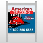 "American Truck 295 48""H x 48""W Site Sign"