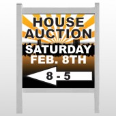 "Auction Left Arrow 716 48""H x 48""W Site Sign"