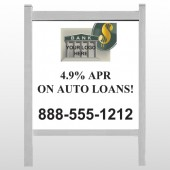 "Auto Loan 173 48""H x 48""W Site Sign"