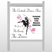 "Ballet Dance 517 48""H x 48""W Site Sign"