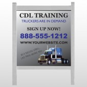 "CDL Training 155 48""H x 48""W Site Sign"