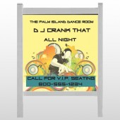"DJ Crank Night 369 48""H x 48""W  Site Sign"