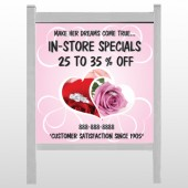 "Pink Rose Hide Ring 400 48""H x 48""W Site Sign"